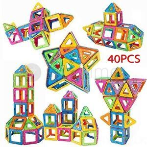 40Pcs-Blocks-Magnetic-Educational-Toys-Tiles-Building-Kids-Xmas-Gifts-DIY-UK-NEW