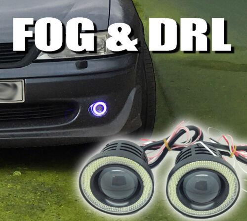 Projector Cob LED Fog DRL Spot Lights Angel Eyes Pair For Chrysler C300