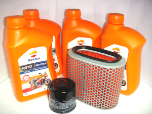 OIL-REPLACEMENET-KIT-REPSOL-SYNTHETIC-10W-40-HONDA-1100-VT-C-Shadow-1987