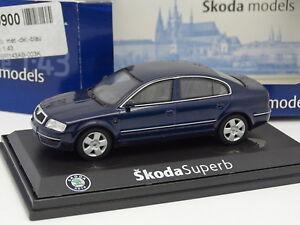 Abrex-1-43-Skoda-Superb-Bleue