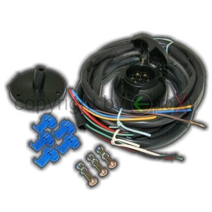 1 Universal 12v E-Set di AHK BARATTOLO 7 POLI AUTO RIMORCHIO elettricità attivi sfera frizione nuovo