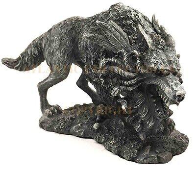 Viking Norse Mythology Fenrir Vánagandr Giant Wolf Figurine Poetic Edda Statue