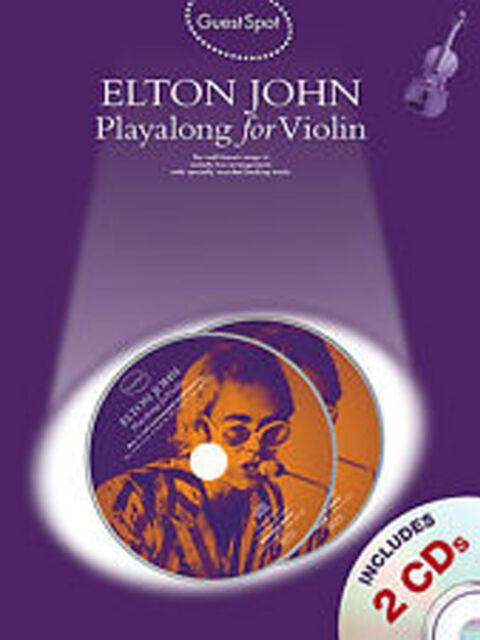 Guest Spot Play-Along for Violin Elton John Music Book & CD B40