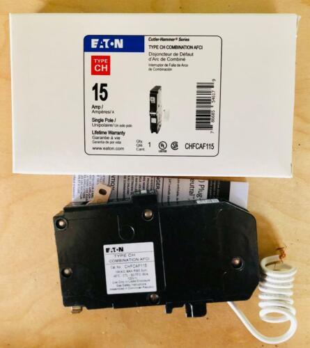 AFCI NIB Eaton CHF115 15A//Single Pole CH Combo