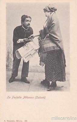 * MILANO - Costumi - Venditore del Giornale La Farfalla Milanese (Salanti) 1917