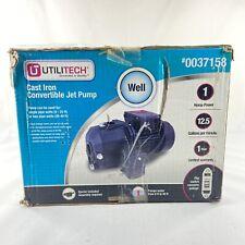 Utilitech Convertible Deep Well Jet Pump Cast Iron 1hp 0037158 Brand New Sealed