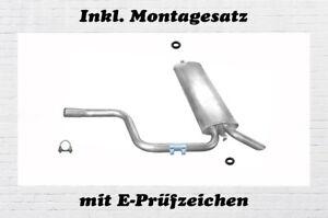Mercedes S124 200 230 250 2.0 2.3 2.5 Endschalldämpfer Auspuff Montagesatz