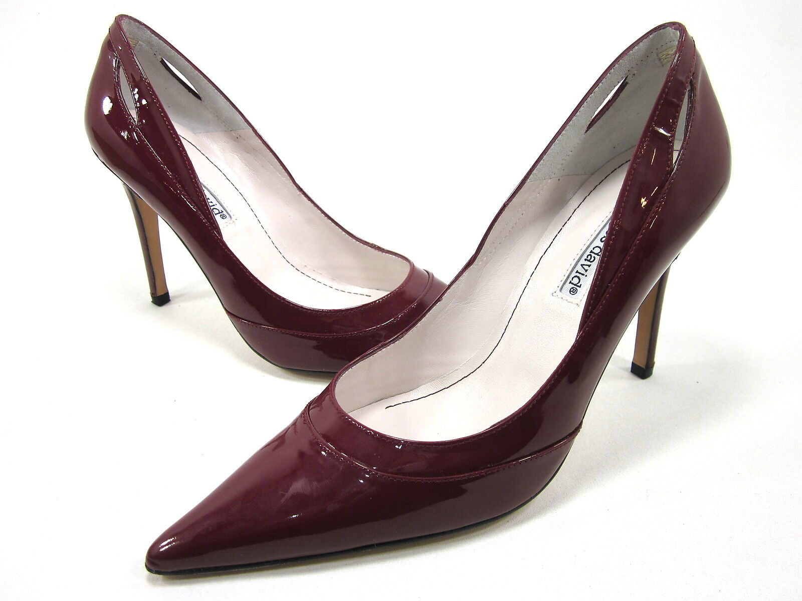 CHARLES DAVID, LUXE PUMP, Donna, RED, US 9M, LEATHER, NEW WITHOUT THE BOX