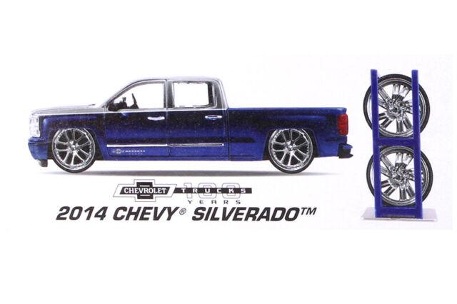 Just Chevy Trucks >> Jada Just Trucks 2014 Chevy Silverado Blue Gray