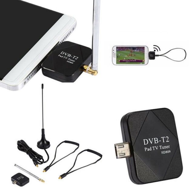 DVB-T2 Mini Micro USB Tuner TV Receiver+Antenna For Android Smartphone Tablet YH