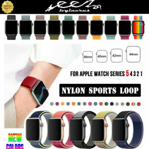 Nylon-Sport-Loop-iWatch-Band-Strap-for-Apple-Watch-Series-5-4-3-2-38-42-40-44mm