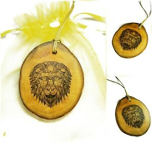 African-Lion-Handmade-Wooden-Necklace-Charm-Pendant-Wooden-Jewellery-Gift-Lion