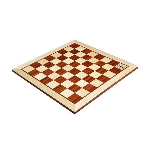 "Maple /& Mahogany Wooden Chess Board 2.25/"" With Logo"