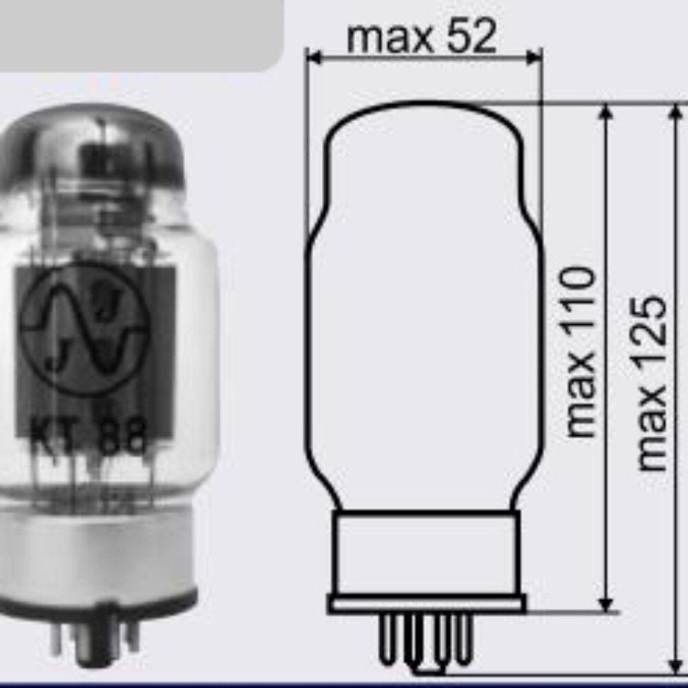 TPD par emparejado Jj Electronic Kt88 6550 Nuevo Tubo de de de vacío Prueba De Potencia Amplificador De Tubo 08fb14