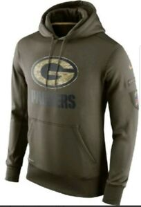 Nike Green Bay Packers Men s Salute to Service Performance Hoodie ... c957347fc