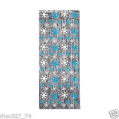 Christmas or Winter Party Hanging Decoration SNOWFLAKE METALLIC CURTAIN