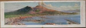 1910-Double-View-Postcard-Eremo-Hotel-Vesuvius-Naples