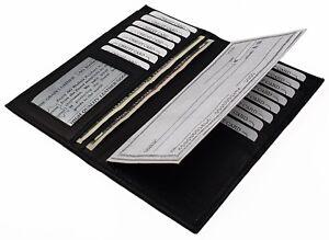 Men-Women-Genuine-Leather-Cowhide-ID-Credit-Card-Checkbook-Cover-Slim-Wallet