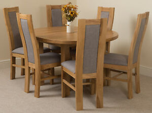 Image Is Loading Dining Table Chair Set Solid Oak Edmonton Round