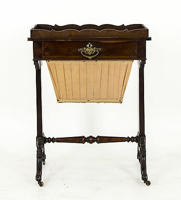 Scottish Victorian B510 Reduced! Walnut Sewing Chest Antique Sewing Table Warm And Windproof