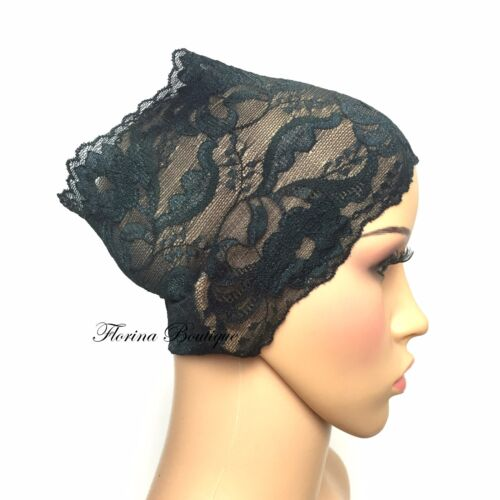 stretchy lovely material Pretty Lace underscarf bandana cap under hijab