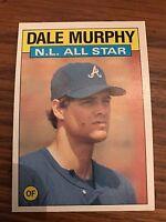 1986 Topps Dale Murphy Atlanta Braves #705