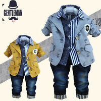 3pc Kids Boys Clothes Outfit Baby Toddler Boy Outfits Party Suits Wedding Sets