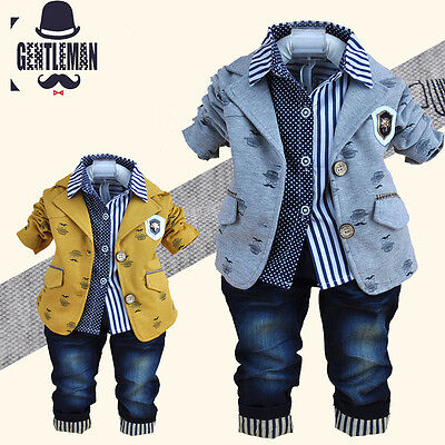 3pc Kids Boys Clothes Outfit Baby Toddler Boy Outfits Party Suits Wedding Sets Ebay