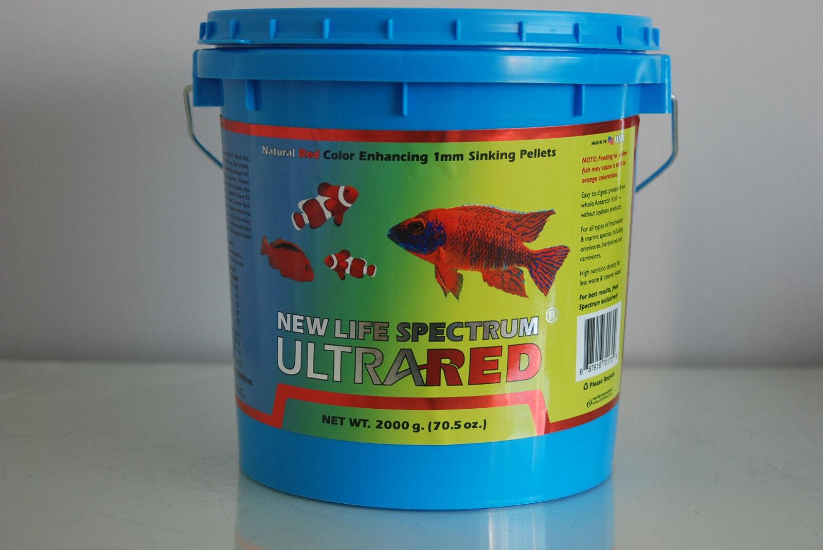 NEW Life Spectrum Formula ultra-ROSSA 2000 grammo vasca da bagno 1mm Taglia Pellet Affondonnato
