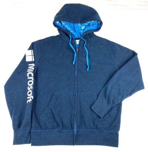 Microsoft Employee hoodie Sweatshirt Full ZIP Mens