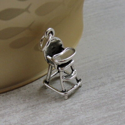925 Sterling Silver Highchair Charm Made in USA
