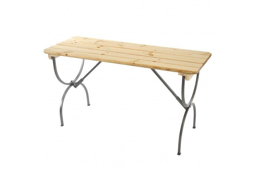 Gartentisch Tisch Outdoor Holz lackiert Esstisch Bierzelttisch Bierzelttisch Bierzelttisch Festzelt 150cm 426a5a
