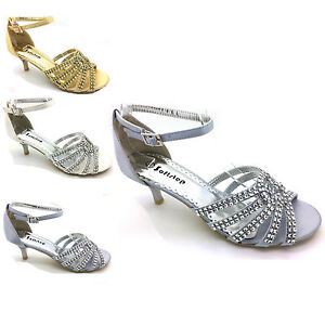 WOMENS-PARTY-LOW-HEEL-PROM-EVENING-WEDDING-DIAMANTE-SIMULATED-SANDALS-BRIDAL-S-1