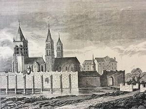 Paris-Saint-Germain-of-near-Au-XIV-Th-Print-of-1856-France