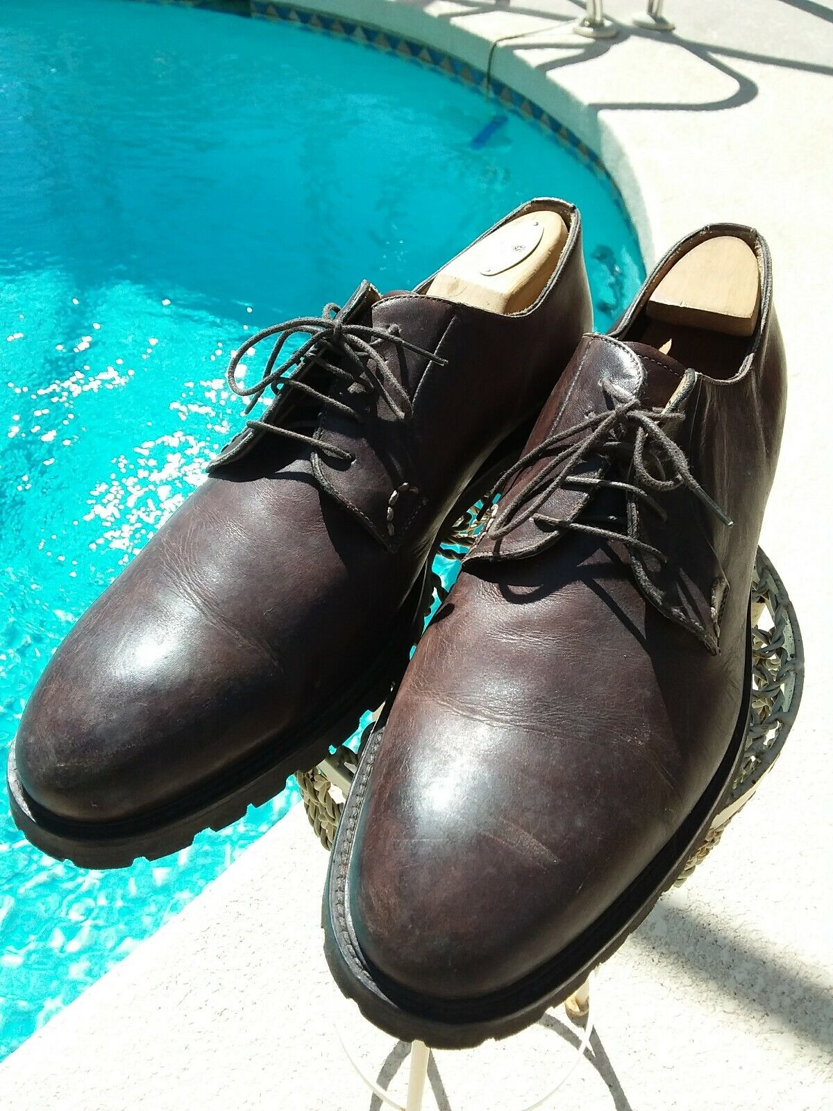 J. Wilton Brown Leather Dress Oxford Lug Soles Made In . USA Sz 11. Eu 45