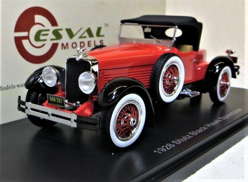 Esval Modelos 1928 Stutz negro Hawk boatail Speedster, Ltd  500 totalmente nuevo en caja.