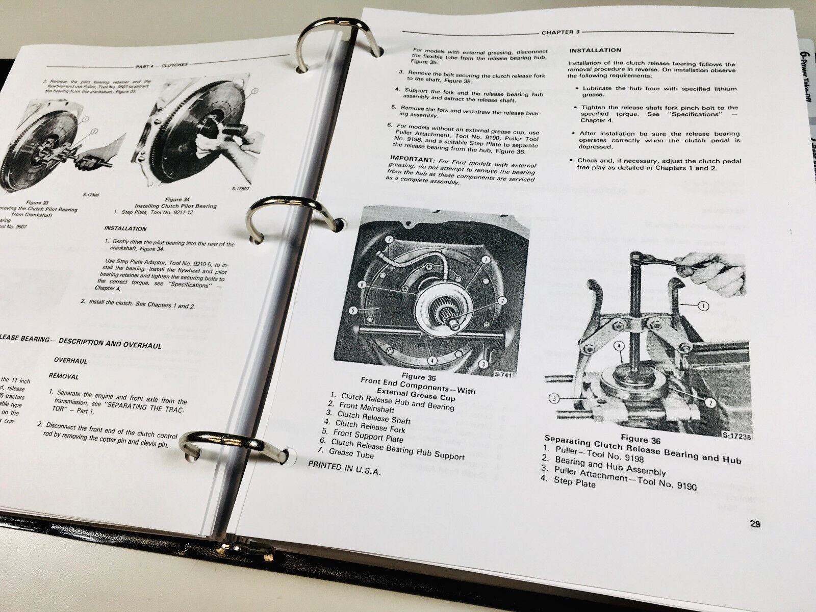 Ford 420 445 445a Industrial Tractor Service Repair Manual Technical Shop  Book | eBay