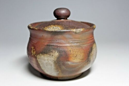 Bizen Japanese Pottery Small Jar by Syusen Sibaoka;Traditional Craftman
