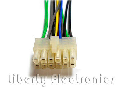 12 Pin Auto Stereo Wire Harness Plug, Pioneer Super Tuner 3d Wiring Harness Diagram