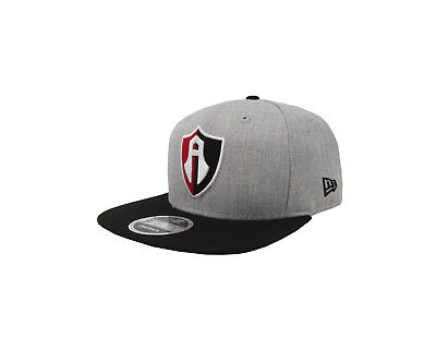 NEW ERA 39Thirty Liga MX Atlas de Guadalajara Black Red Stretch Fitted Cap Hat
