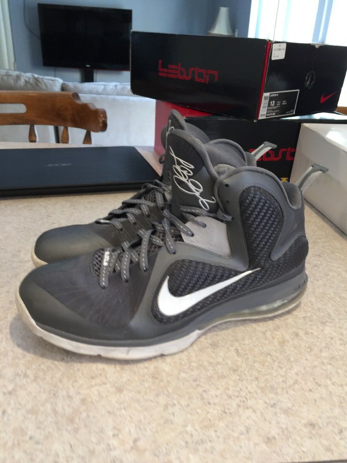 Nike LeBron 9 Cool Grey Mens 469764-007 Sz13 Sz13 Sz13 c8be11