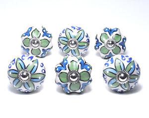 Schrankknöpfe /  Möbelknöpfe  Keramik , 6 Stück