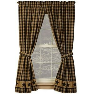High Quality Image Is Loading BLACK COUNTRY STAR 84 034 PANELS CURTAINS LINED