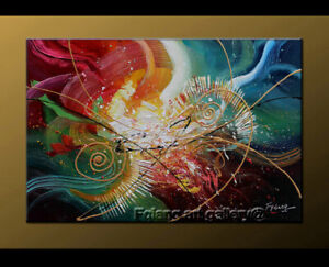 Details About Large Modern Abstract Oil Painting On Canvas Contemporary Wall Art Decor Fy3601
