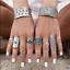 Retro-10Pcs-Set-Silver-Gold-Boho-Fashion-Arrow-Moon-Midi-Finger-Knuckle-Rings thumbnail 24