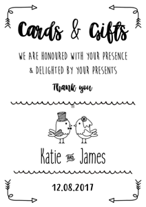 Cards-amp-Gifts-Personalised-Wedding-Sign-Print-Wedding-Signs-BUY-3-GET-1-FREE