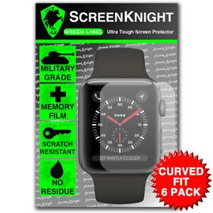 Screenknight-Apple-Watch-Series-3-42-MM-Protector-de-Pantalla-Ajuste-Curvado-Paquete-de-6