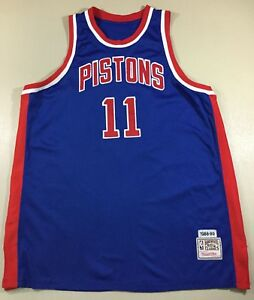 sale retailer a0c05 01675 Details about Vintage Detroit Pistons Isiah Thomas #11 Basketball NBA  Mitchell Ness Jersey 58