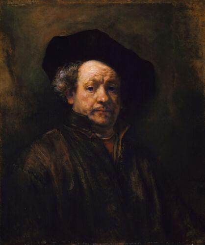 "Rembrandt Self-portrait 8/""x9.5/"" Giclee Canvas Print"