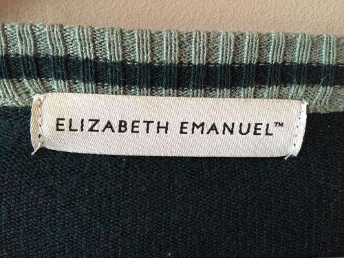 Elizabeth Emanuel vintage seta in Cardigan Uk S taglia 10 Cardigan pZW5nxxF